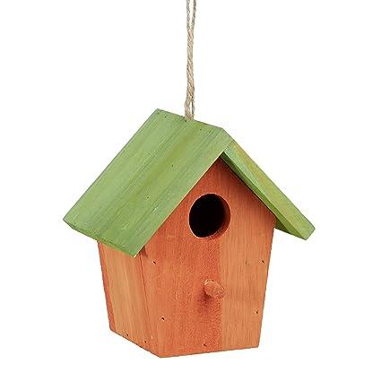 8f3852c9d209a Relaxdays Colorido Deco casa para pájaros
