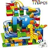 CHTOY スロープトイ 積み木 ジャングル大冒険 おもちゃ ブロック 兼用 ルーピング コースター 立体パズル 知育玩具 子供用 クリスマス 誕生日 プレゼント (170PCS)