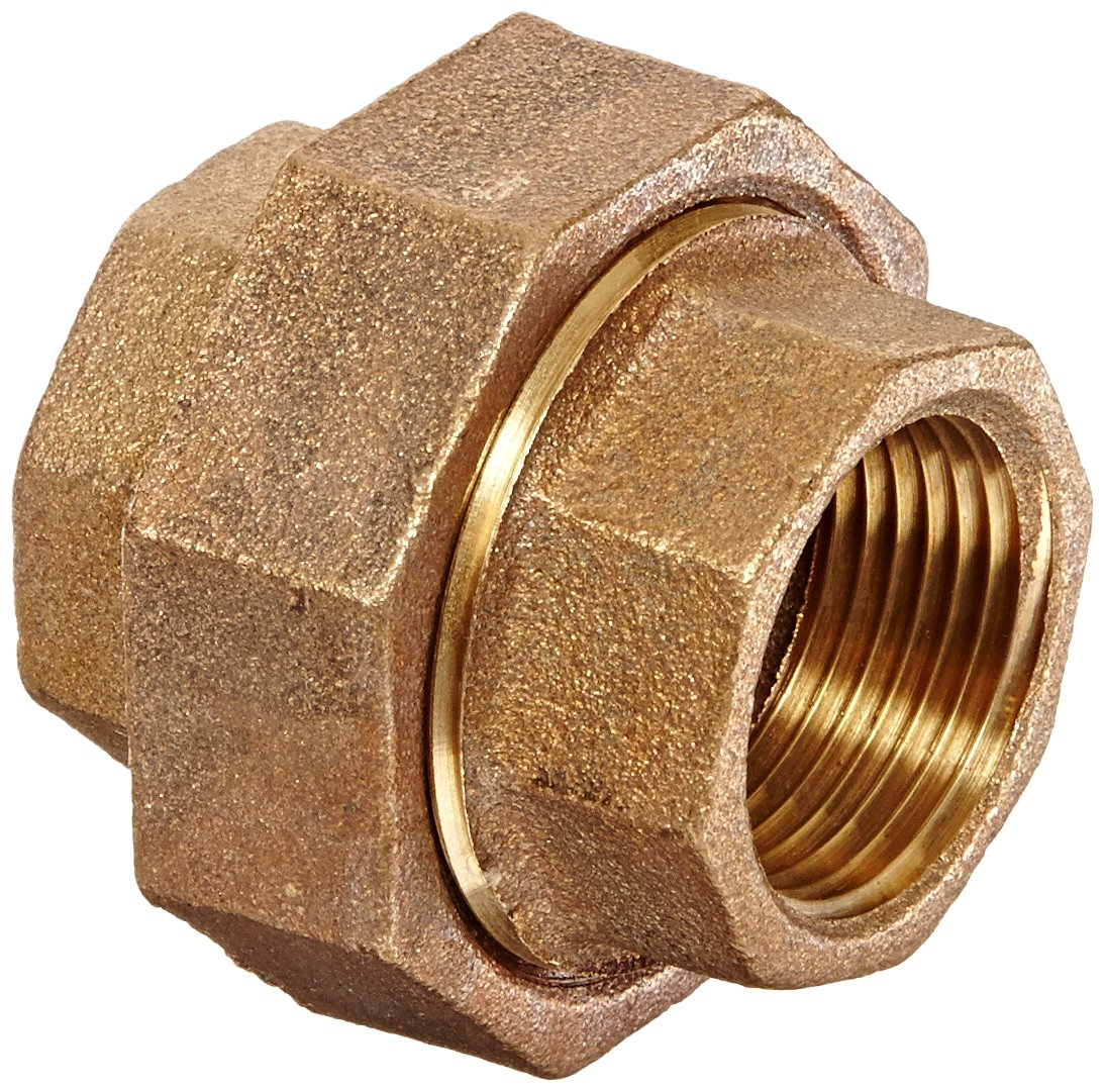 1 Female Pipe Union Anderson Metals 38104 Red Brass Pipe Fitting