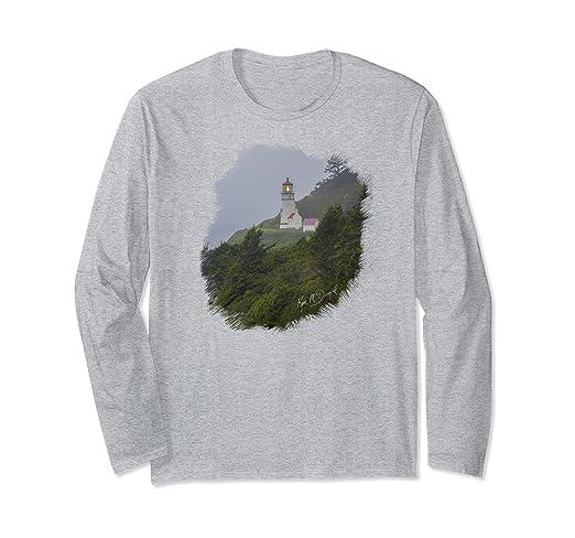 Lighthouse in Fog Long-sleeved T-Shirt