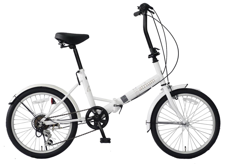 武田産業 フォールディングバイク atrium (アトリウム) [シマノ外装6段変速仕様 折りたたみ] FDR-B206AT B07BFZYX5V ホワイト ホワイト