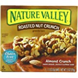 Nature Valley Roasted Nut Crunch Gluten Free Bars Almond Crunch (Pack of 6)