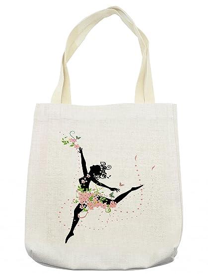 c3e725fb6215 Amazon.com - Lunarable Floral Tote Bag
