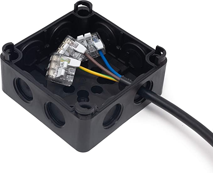 96x96x60mm +Connectors IP66 External//Outdoor Waterproof Junction Box
