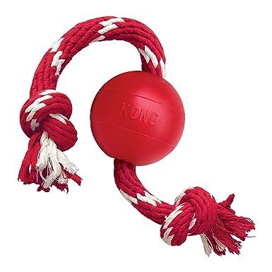 KONG JU03520 Pelota con Cuerda: Amazon.es: Productos para mascotas