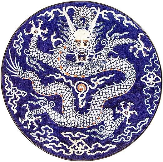 Amazon.com: Alfombras redondas estilo chino patrón de dragón ...