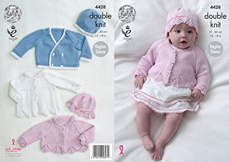cc53523d1 King Cole Baby Double Knitting Pattern Matinee Coat Cardigan Jacket ...