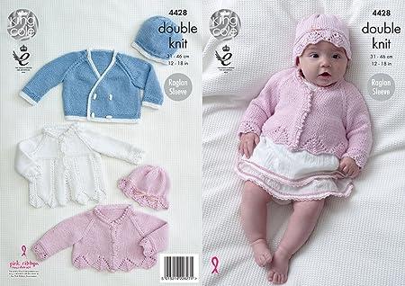 efdedec11 King Cole Baby Double Knitting Pattern Matinee Coat Cardigan Jacket ...