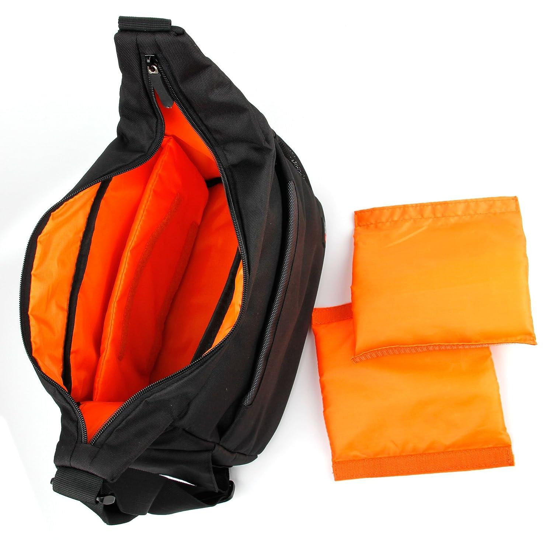 DURAGADGET gepolsterte Schultertasche SLING mit anpassbarem Innenraum und Trennw/änden f/ür Fuji FinePix HS25EXR HS28EXR SLR-Kamera und Zubeh/ör