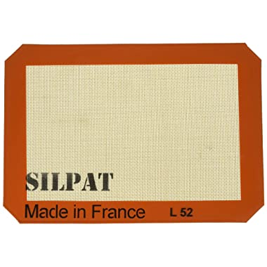 Silpat AE295205-01 Premium Non-Stick Silicone Baking Mat, 11-3/4-Inch x 8-1/4-Inch (2 pack) by Silpat