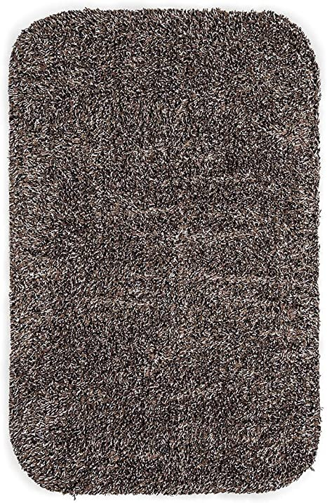 Plow /& Hearth Medium Mud Rug Non Slip Indoor Mat Absorbent Dirt Trapping Machine Washable 19 W x 29 L Charcoal Grey