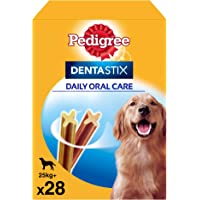 Pedigree Pack de Dentastix de uso Diario para la Limpieza Dental de Perros Grandes (4 Packs de 28ud)
