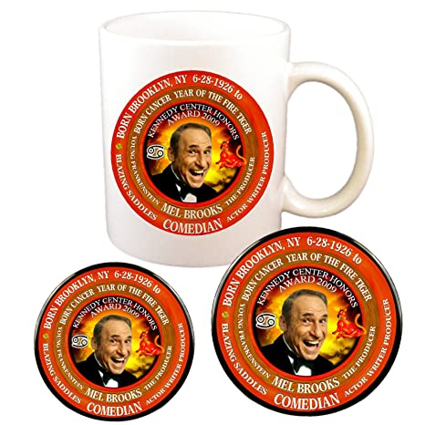 Amazon com | Mel Brooks Comedian Cup + Magnet + Pin, Astrology