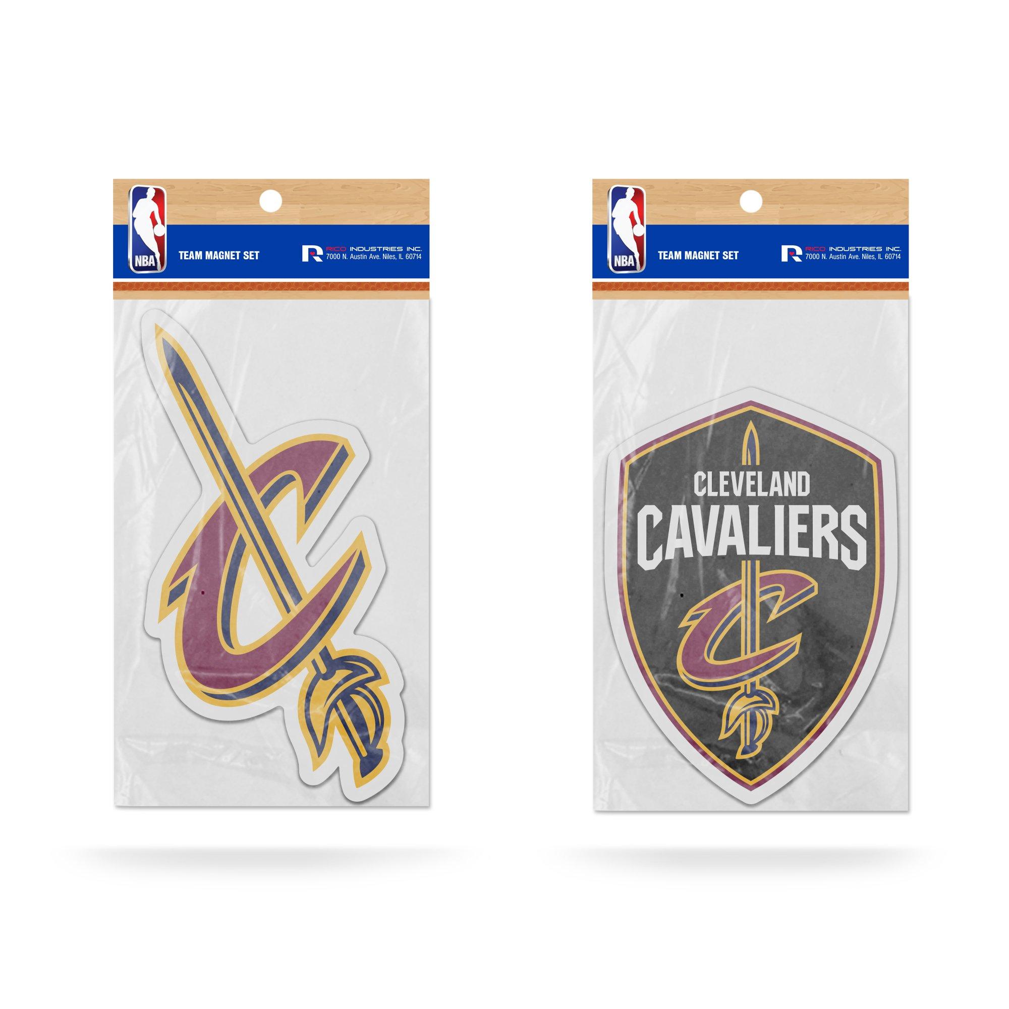 Rico NBA Cleveland Cavaliers 2-Pack Die Cut Team Logo Magnet Set