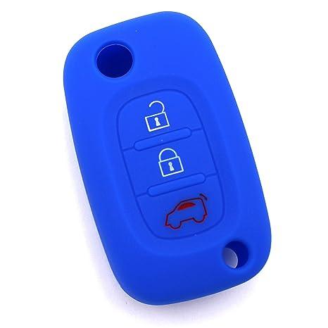 Finest-Folia Custodia con targhetta per le chiavi dell/'auto in silicone Rot con 1 pulsante