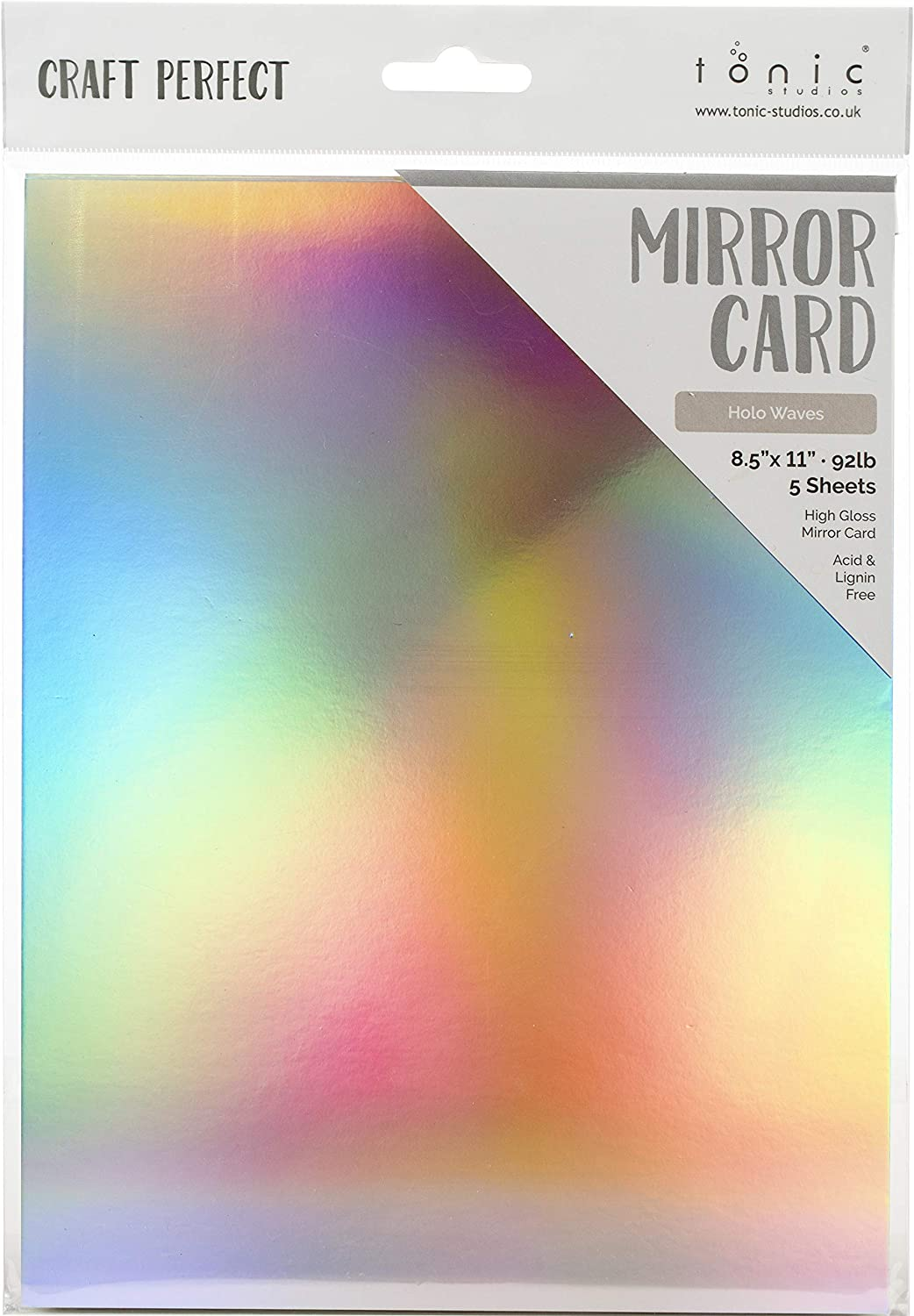 Festive Lights Mirror Card Pack 24 Sheets 6 x 6 Tonic Studios