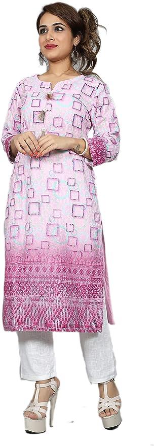 Lucknowi Kurti Georgette TS-GOY-44XXL - Tasnaz Creations