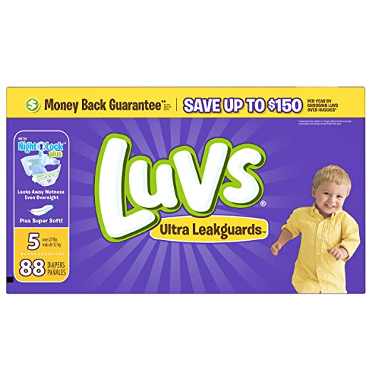 Luvs Ultra Leakguards Diapers Size 5 88 count