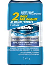 Gillette Cool Wave Clear Gel Men's Antiperspirant & Deodorant 81 g each, 2-Pack