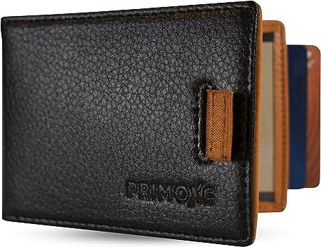 Men PU Leather Money Clip Bifold Wallet Coin Purse ID Credit Card Holder Black