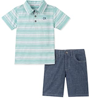 Baby Boys Sleeve US Polo Assn Childrens Apparel P105100TUV U.S