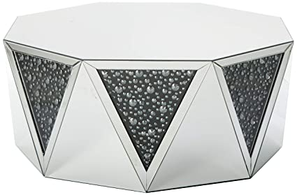 Drum Shaped Coffee Table.Amazon Com Major Q 18 H Glam Modern Style Drum Shape Mirrored Top
