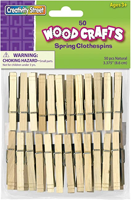 3 Pack Loew-Cornell 1021218 Simply Art Wood Flat Clothespins 40 ct