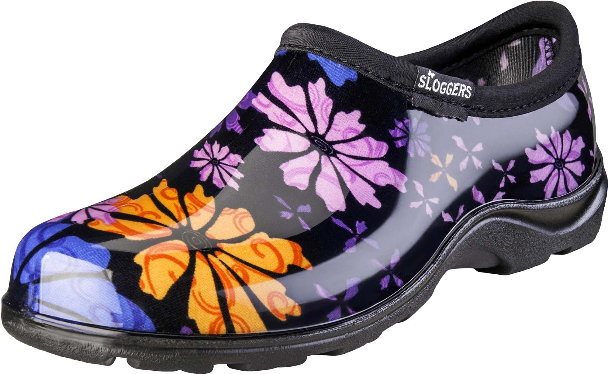 Sloggers Women's Waterproof  Rain and Garden Shoe with Comfort Insole, Flower Power, Size 6, Style 5116FP06