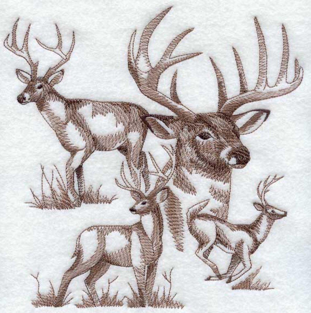 Deer Buck Custom Embroidered Sweatshirt Shirt