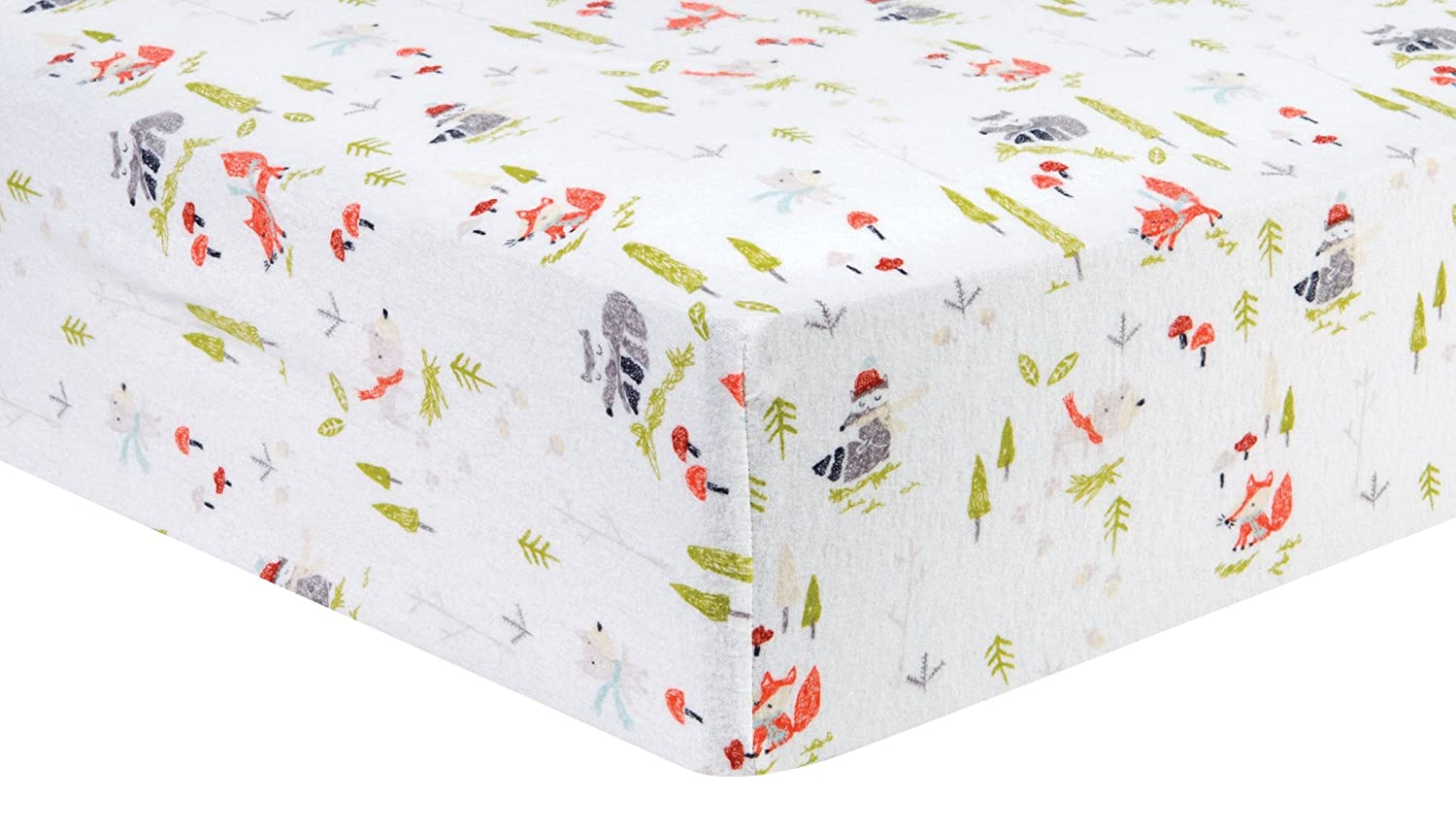 ​Trend Lab Cotton Winter Woods Deluxe Flannel Crib Sheet