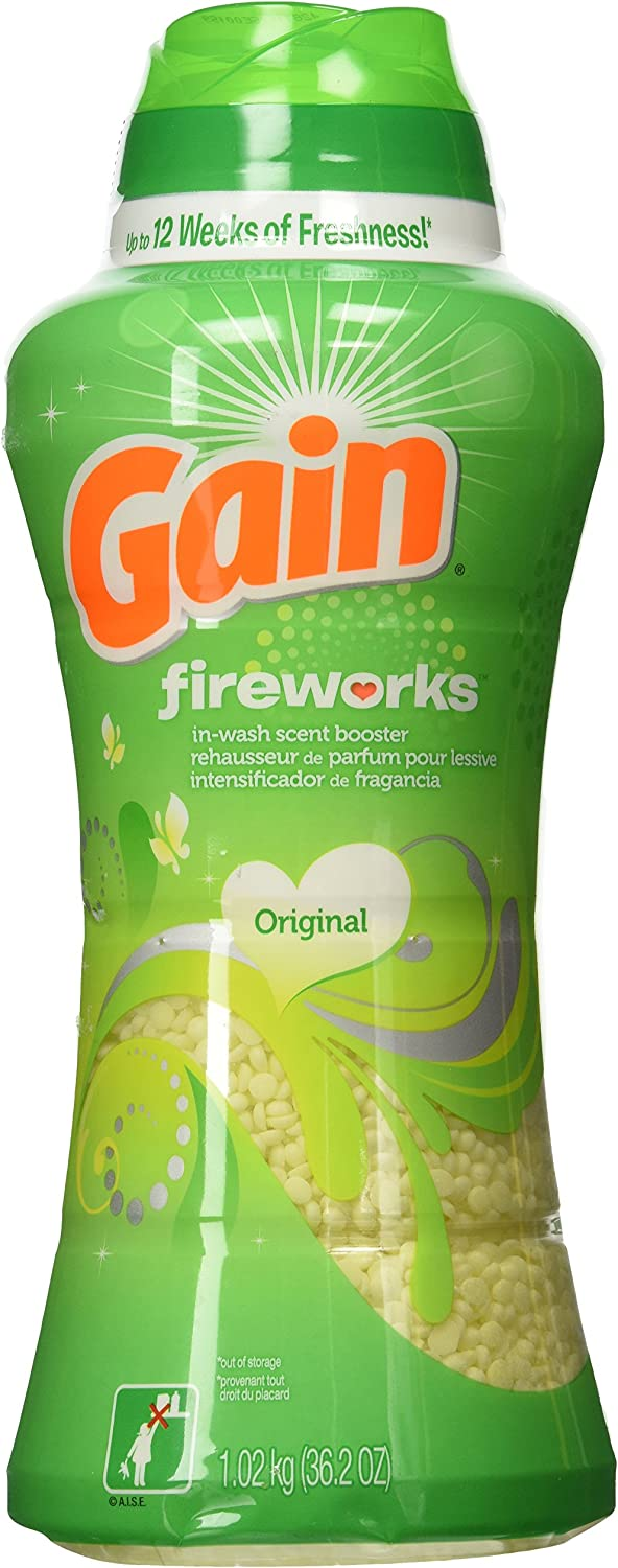 Gain Fireworks in-Wash Scent Booster, Original, 36.2 Ounce