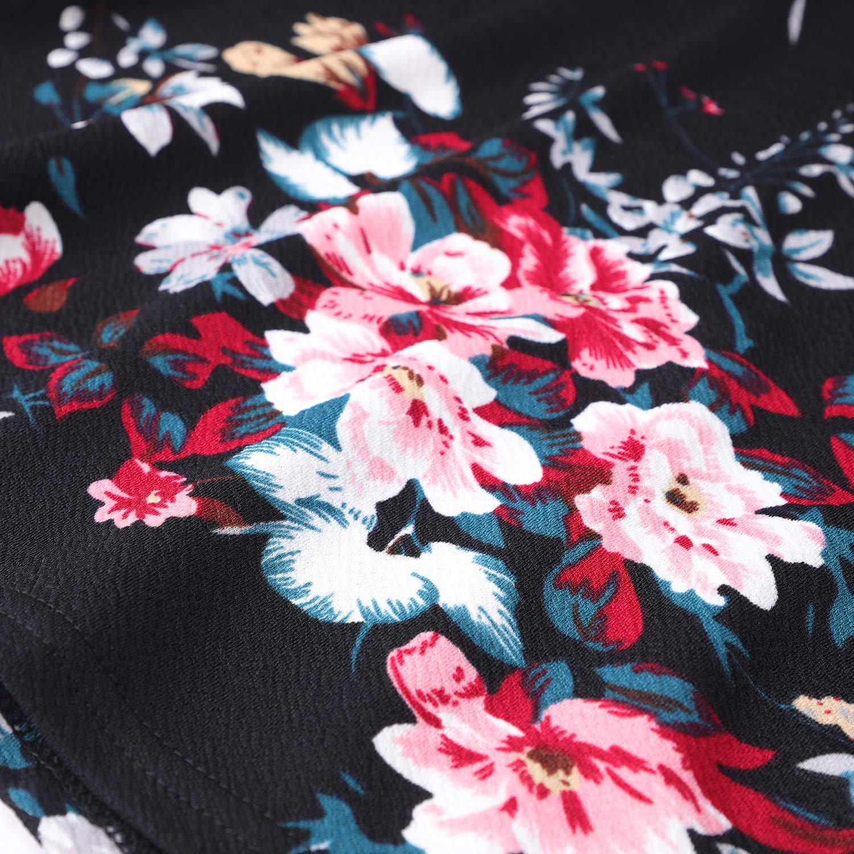 a Maniche Lunghe Stile Rockabilly Vestito da Donna oten Stile Vintage