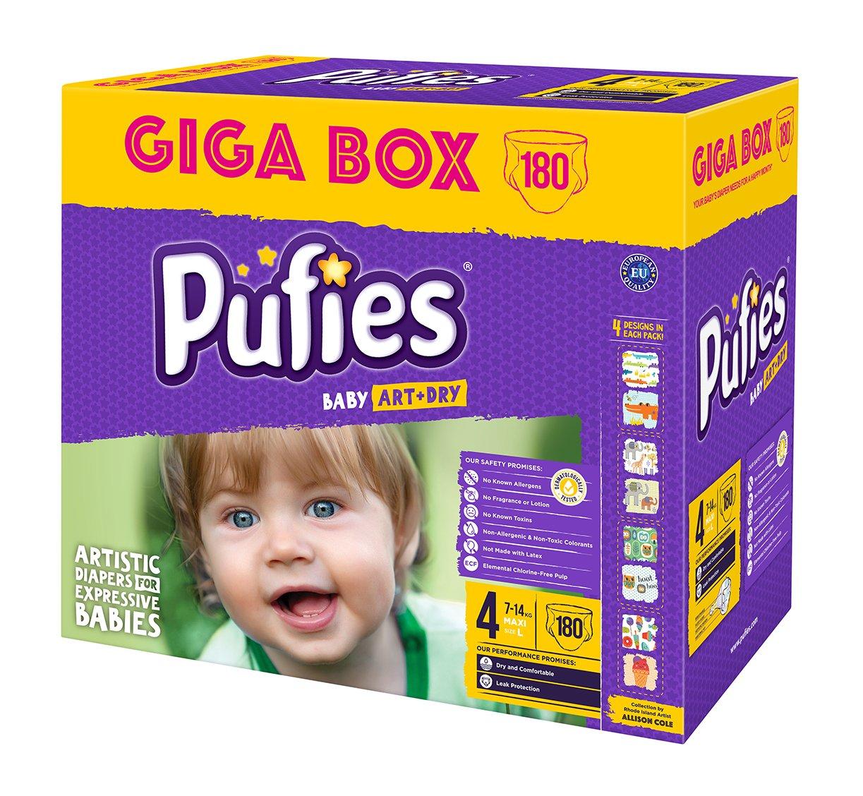 Pufies A&D MAXI Pañales para Bebés - 180 Pañales: Amazon.es: Salud y cuidado personal