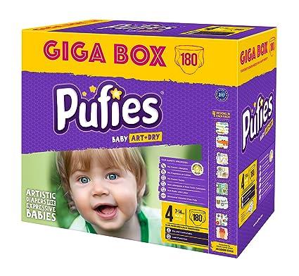 Pufies A&D MAXI Pañales para Bebés - 180 Pañales
