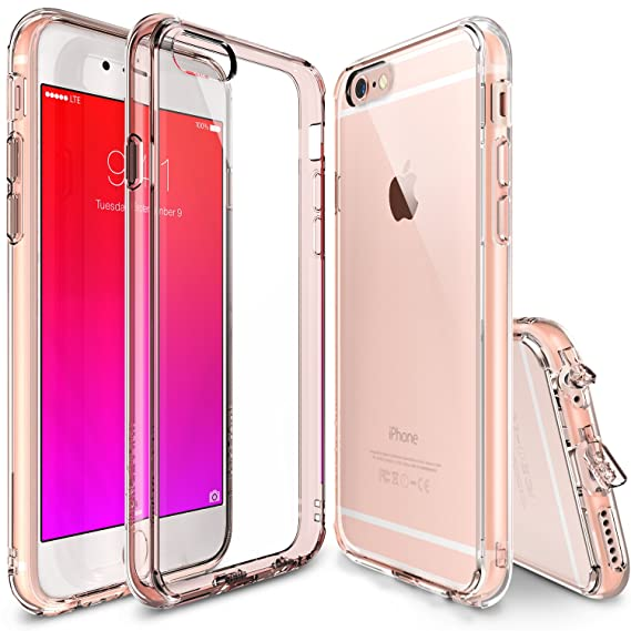 new product 87bf2 65397 Ringke Fusion Compatible with iPhone 6S Plus Case Crystal Clear PC Back TPU  Bumper [Drop Protection, Shock Absorption Technology] [Attached Dust Cap]  ...