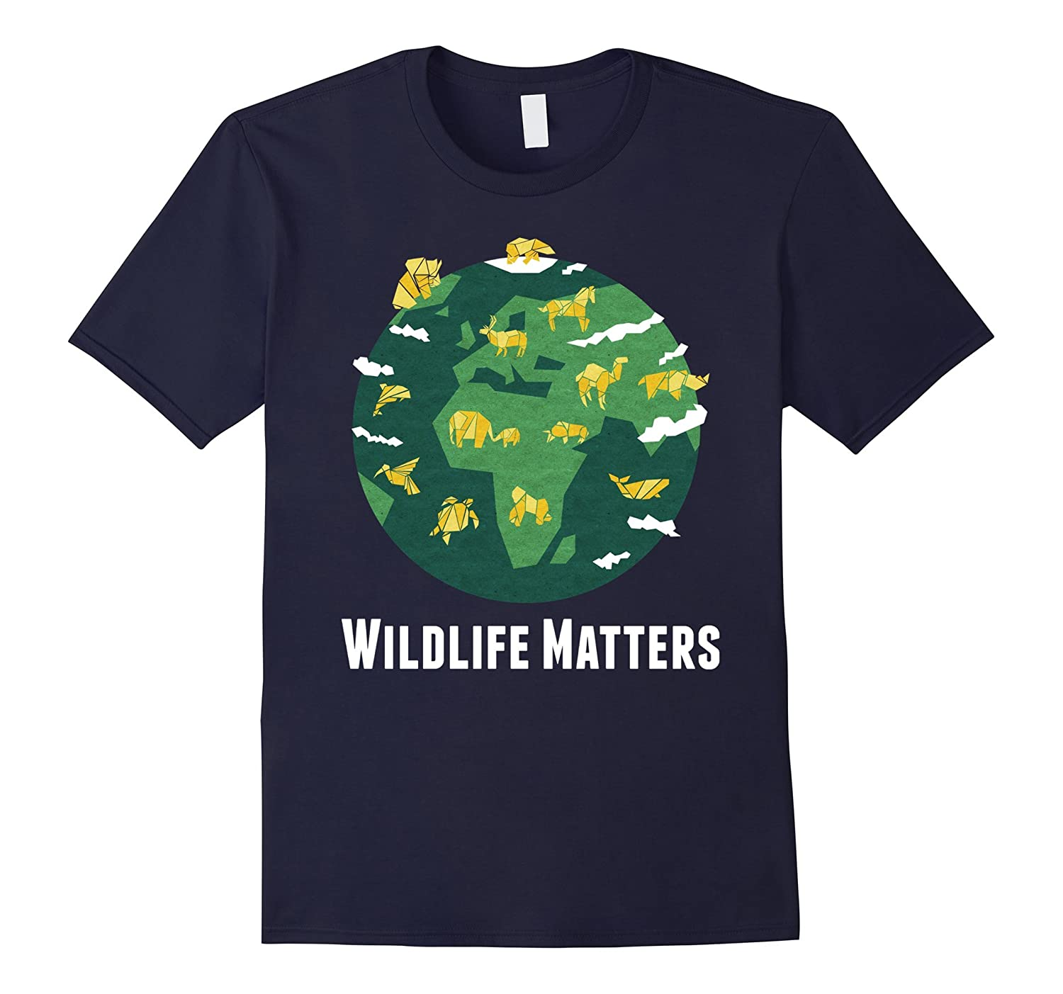 Wildlife Matters T Shirt Origami Animal Style Tee Anz Anztshirt