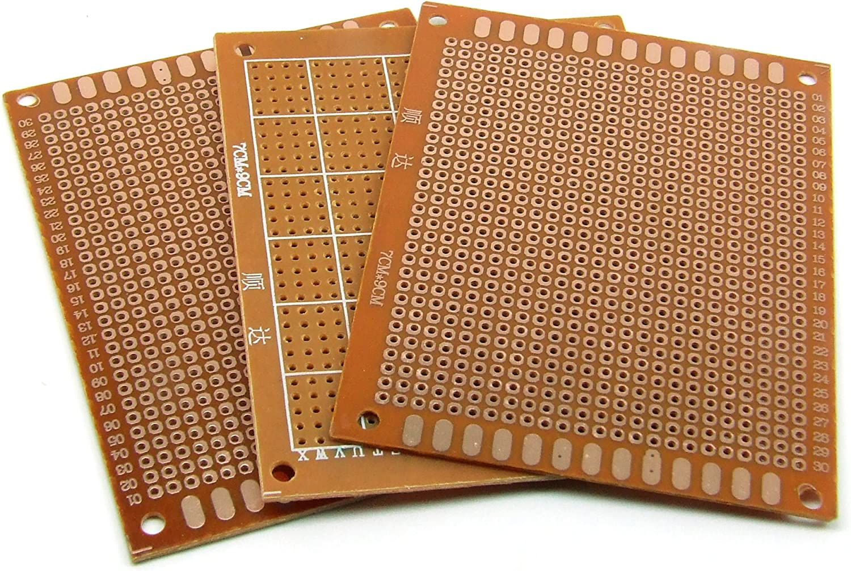 3 x Plaque prototype circuit imprim/é pastill/ée 70 x 90 mm STRIP BOARD PCB #A724 Pi/èces//pcs