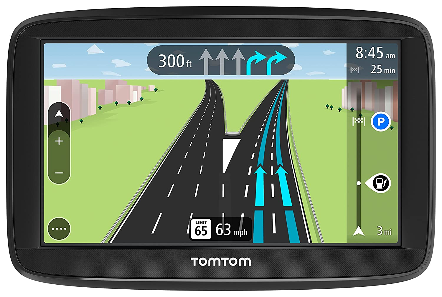 TomTom VIA 1625TM 6-Inch GPS Navigation Device with Free Lifetime Traffic &  Maps of North America, Advanced Lane Guidance and Spoken Turn-by-Turn