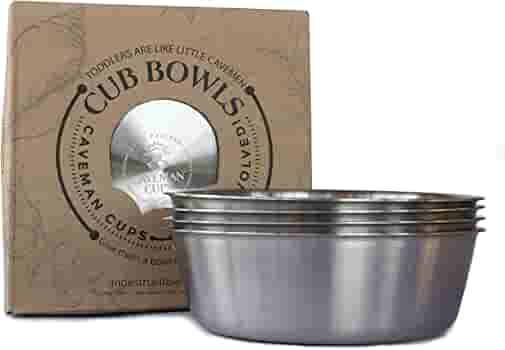 Unbreakable and Dishwasher Safe HaWare 12 oz Feeding|Soup|Snacks Double Walled Bowls for Babies Kids BPA-Free Heavy 18//8 Stainless Steel Toddlers Bowls 4 Pack