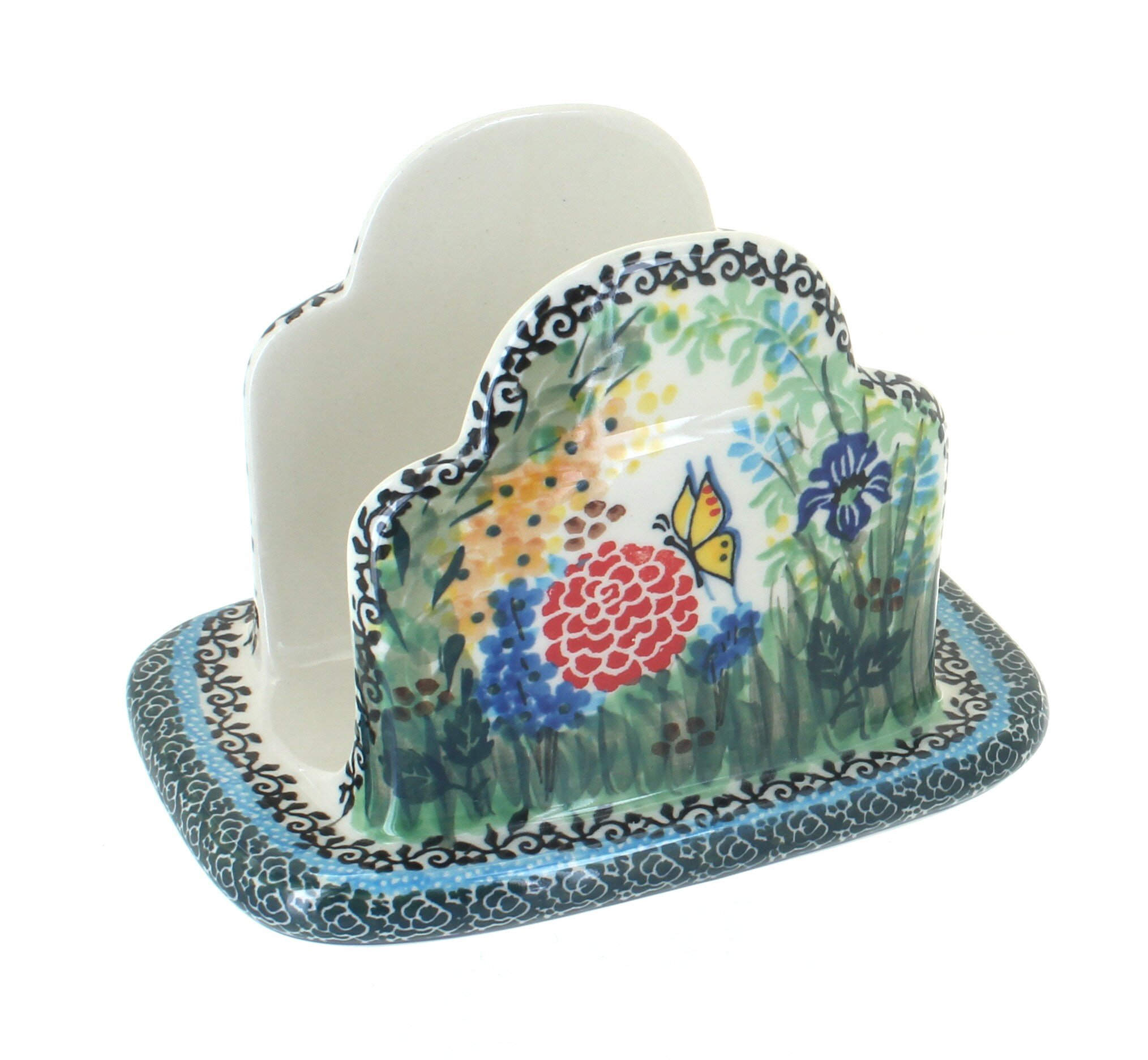 Polish Pottery Teresa Napkin Holder