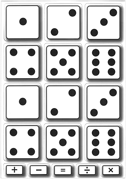 Ashley Productions Dominoes Math Die-Cut Magnets