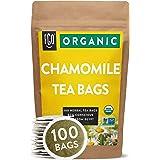 Organic Chamomile Tea Bags | 100 Tea Bags | Eco-Conscious Tea Bags in Kraft Bag | Raw from Egypt | by FGO
