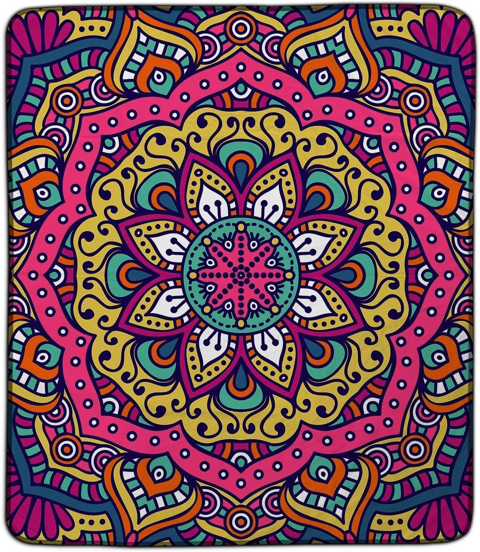 Amazon Com Floral Mandala Pixel Fleece Blanket 50 X60 Home Kitchen