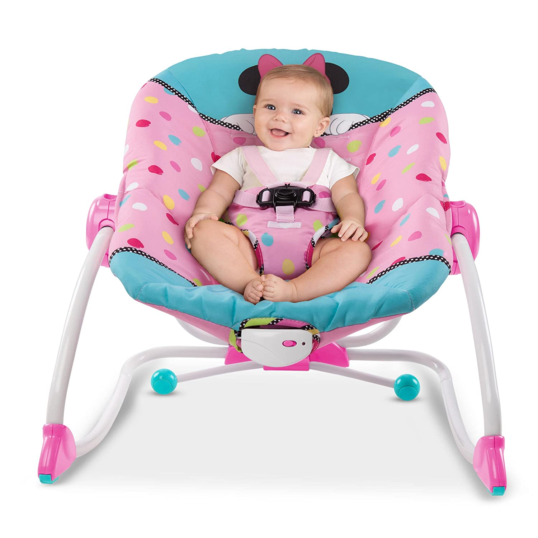 Disney Baby Bright Starts to Big Kid Rocking Seat Minnie Peek A Boo KidsII 10360