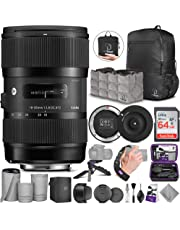 $639 » Sigma 18-35mm F1.8 Art DC HSM Lens for Canon EF with Advanced Photo and Travel Bundle - Includes Sigma USB Dock, AirBag Packable Bag, SanDisk 64gb SD Card, Altura Photo Mini Tripod