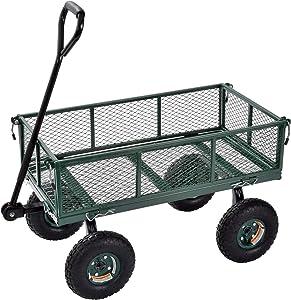 Juggernaut Carts - GW3418-GR Steel Utility Garden Wagon, 400 lb. Load Capacity, 21-3/4