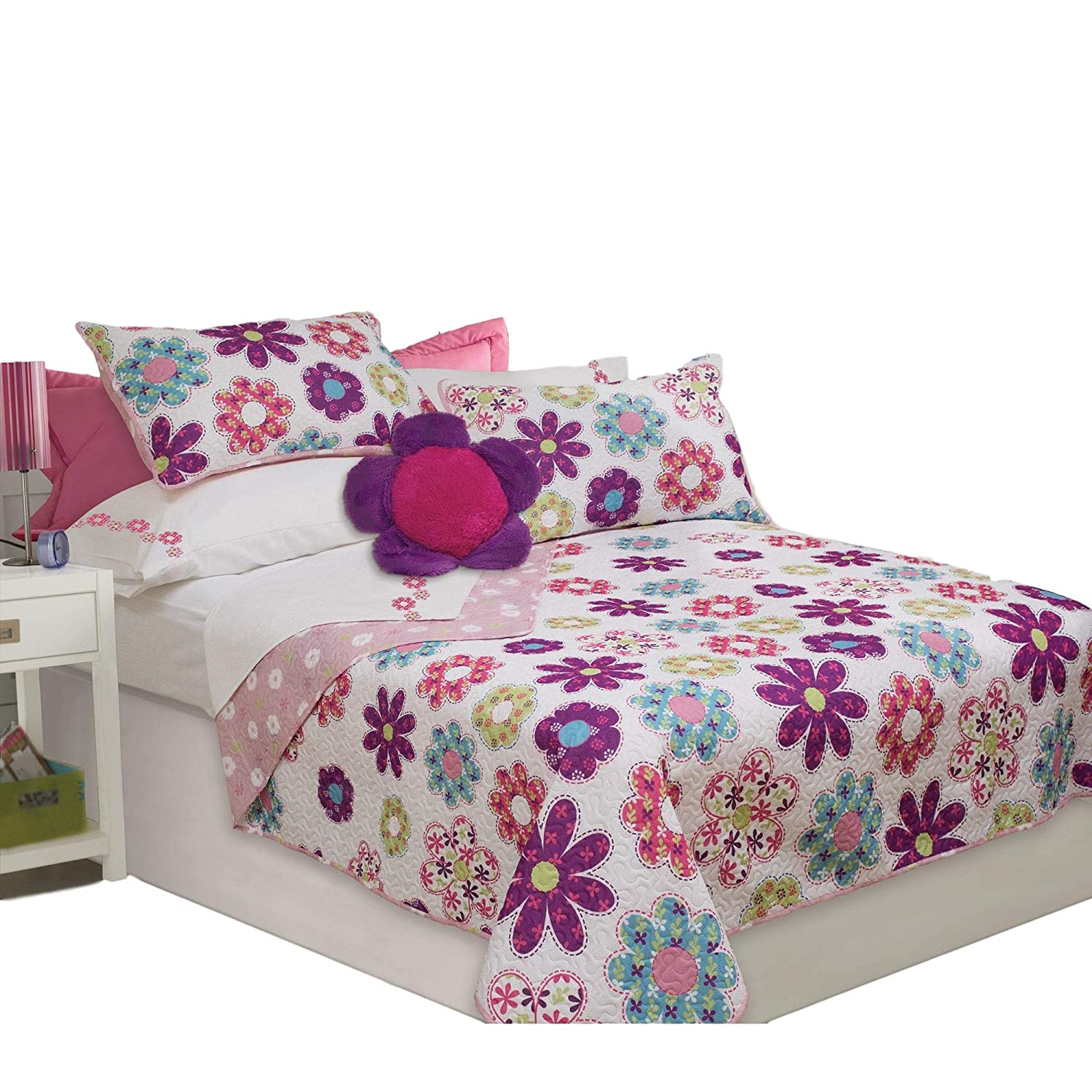 Holly Bedding Bedspread Coverlet Quilt Set, Twin 060971