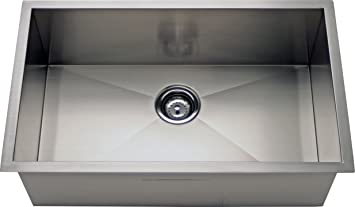 27 square zero radius single bowl kitchen sink amazon 27quot square zero radius single bowl kitchen sink workwithnaturefo