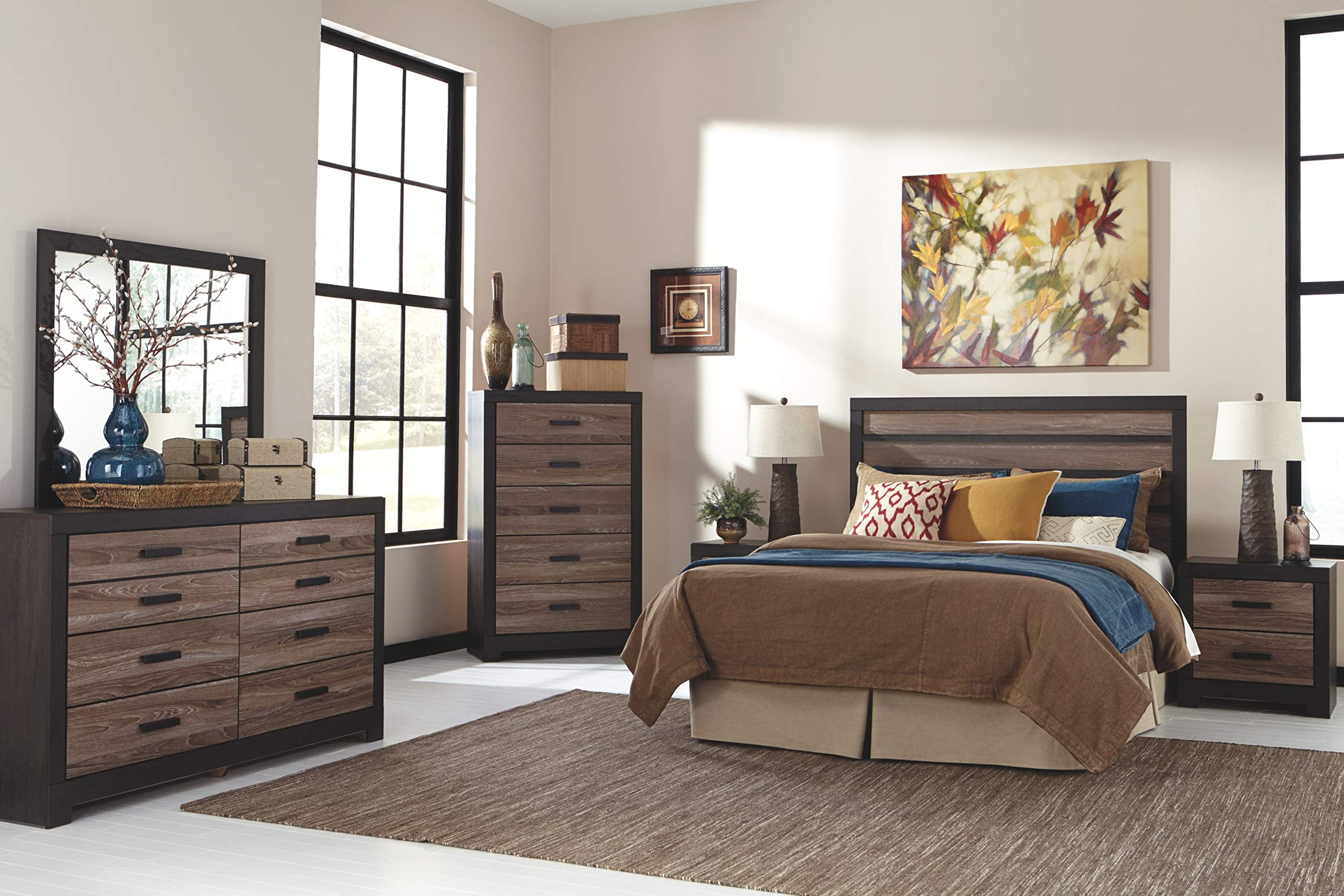 Ashley Furniture Signature Design - Harlinton Chest of Drawers - 5 Drawer Dresser - Contemporary Vintage - Warm Gray & Charcoal by Signature Design by Ashley (Image #9)