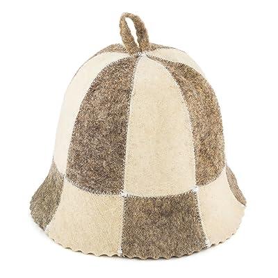 Eden Ukraine Wool Sauna Hat Embroidered Cell : Garden & Outdoor